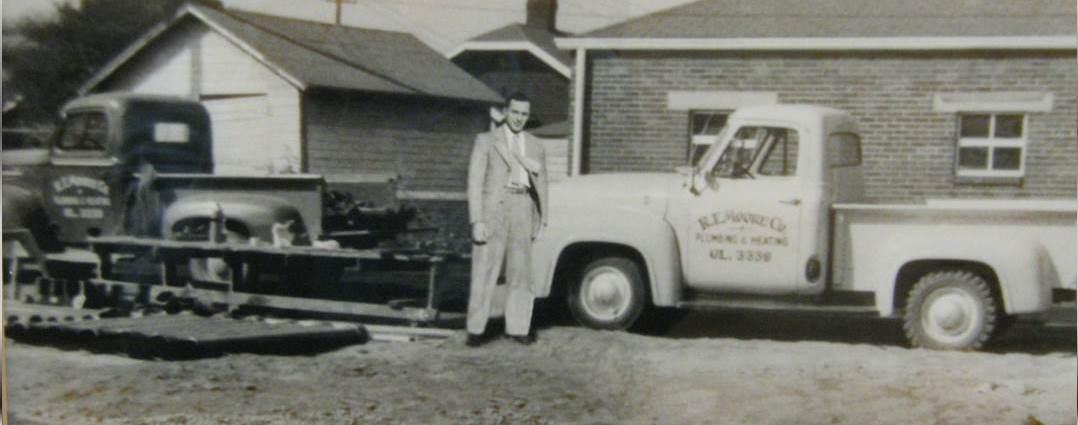 1955, R.T. Moore begins