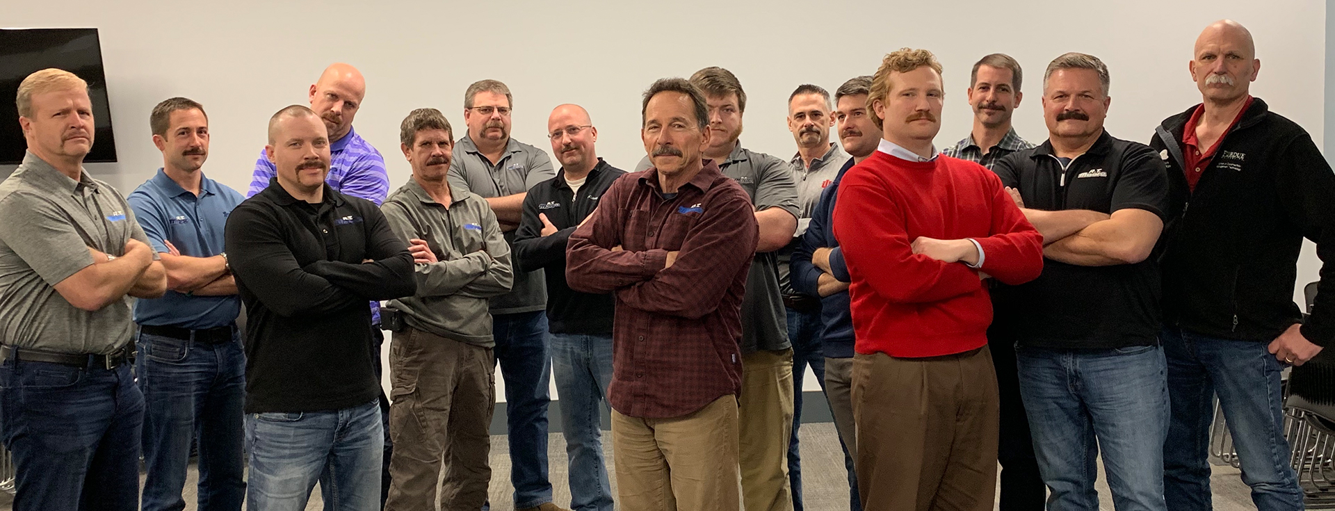 RT Moore Executive Team with Mustaches