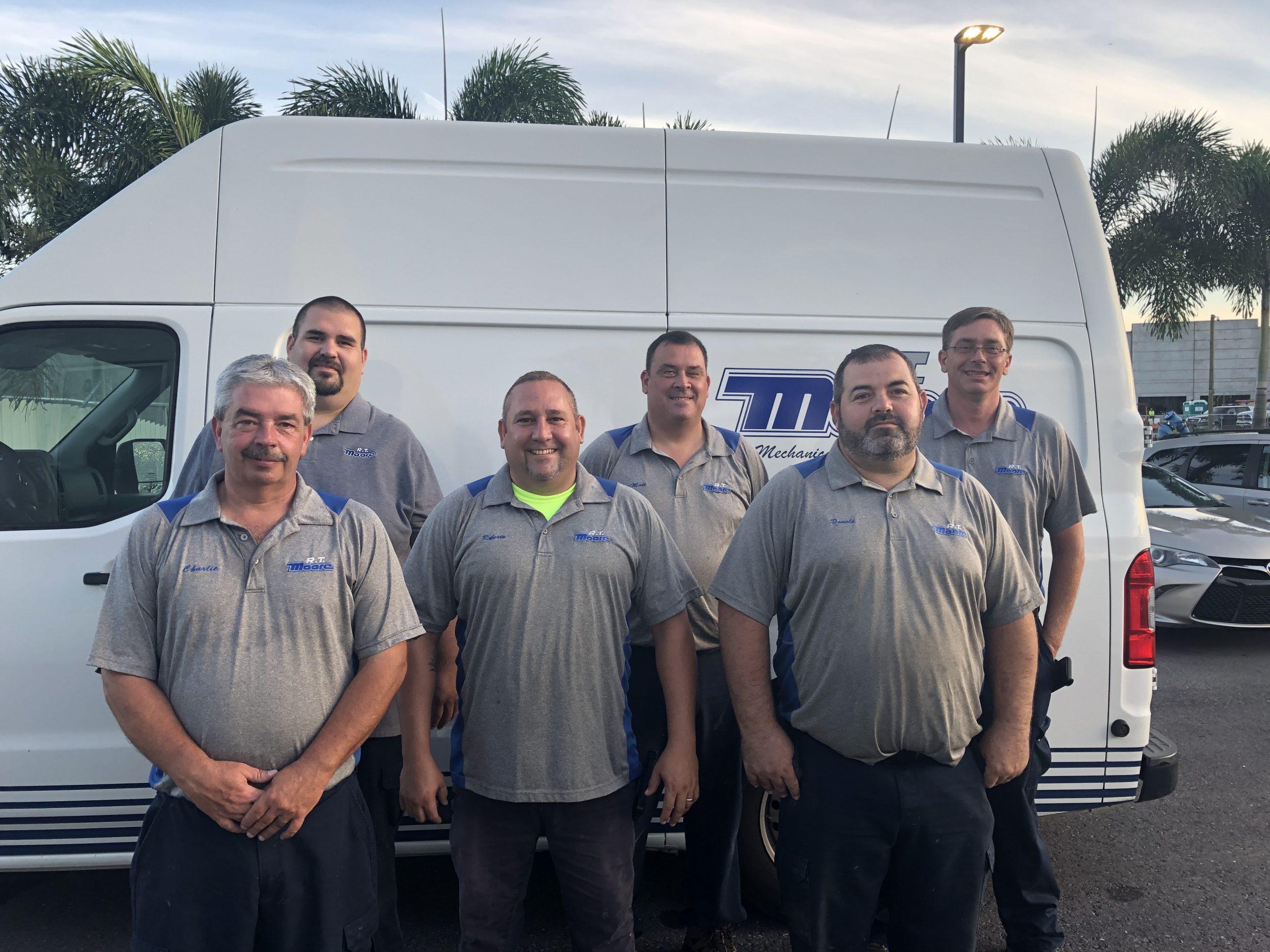 Plumbing service crew